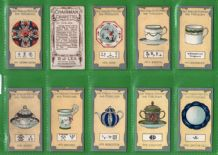 Collectable Tobacco cards set Cigarette   Old Pottery & Porcelain 1912